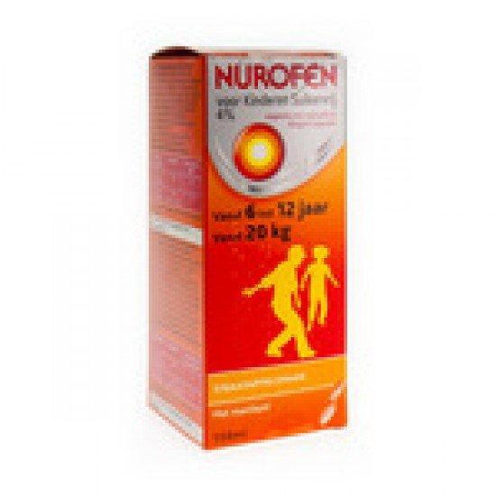 Nurofen 4% Siroop Susp. (Zonder Suiker) Kinderen 150ml 200mg/5ml